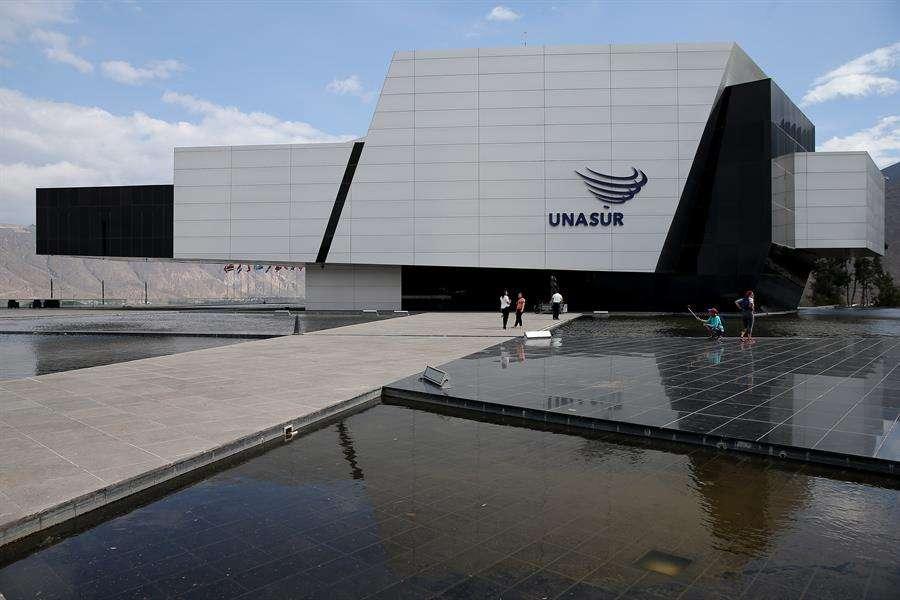 Registro general del edificio Néstor Kirchner, sede permanente de la Unión de Naciones Suramericanas (Unasur), en Quito (Ecuador). EFE