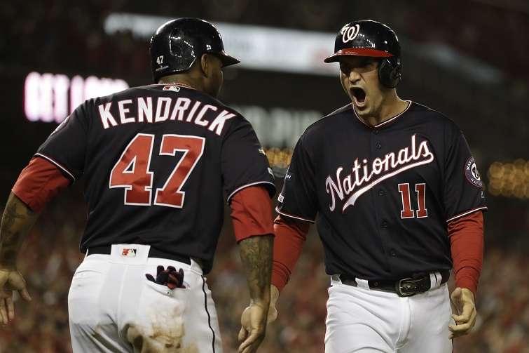 Howie Kendrick y Ryan Zimmerman. / Foto AP