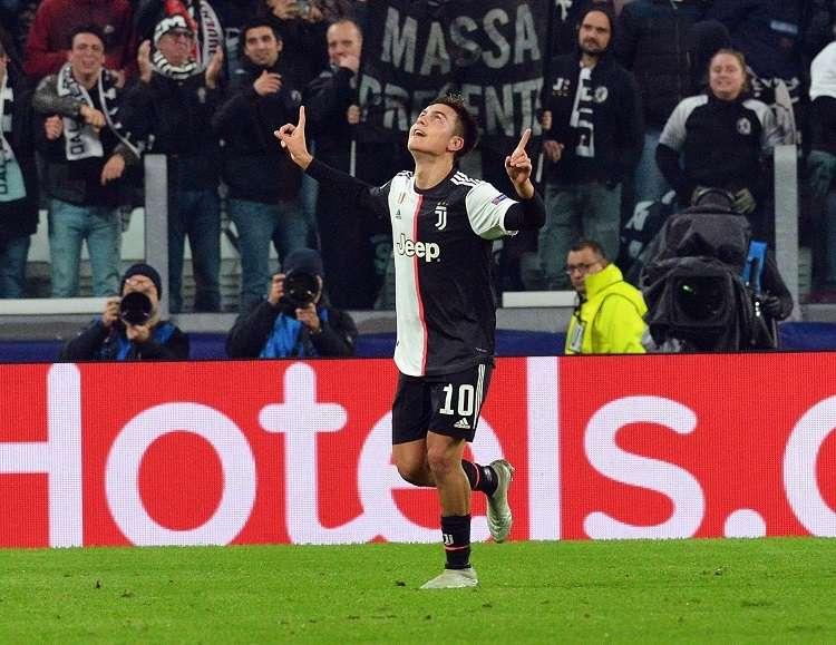 Paulo Dybala celebra su gol ante el Atlético de Madrid. Foto: EFE