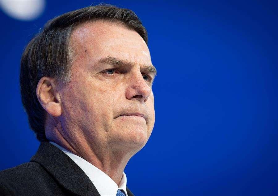 En la imagen un registro del presidente de Brasil, Jair Bolsonaro. EFE