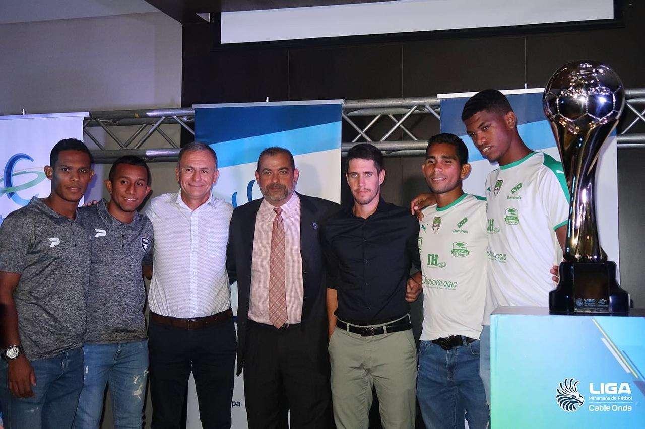 Jugadores del Tauro y Costa del Este en conferencia de prensa. Foto: LPF