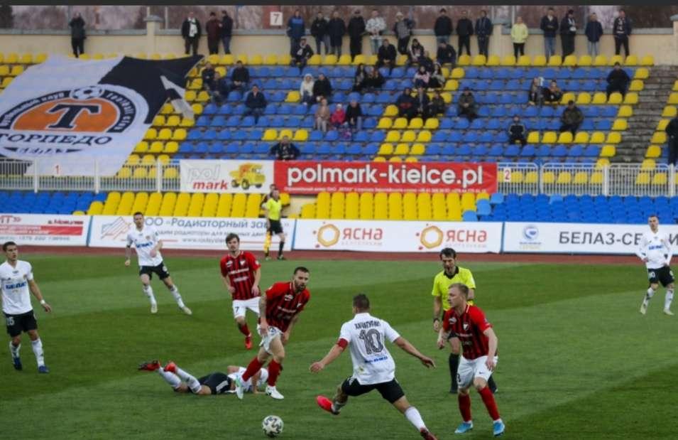 Imagen de un partido de la Liga bielorrusa. /AP