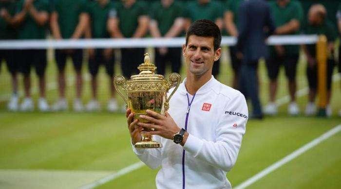 Novak Djokovic fue el campeón del año pasado del Abierto de Wimbledon en la rama masculina.