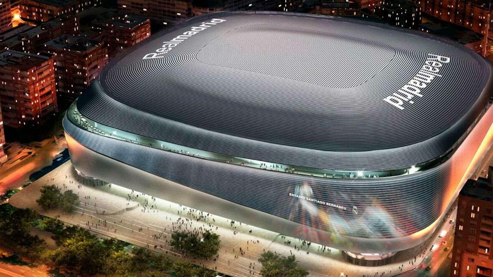 Fachada de cómo quedará el estadio Santiago Bernabéu.