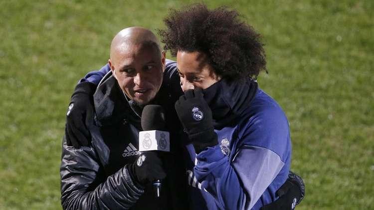 Roberto Carlos  y Marcelo (dcha.). Foto: EFE