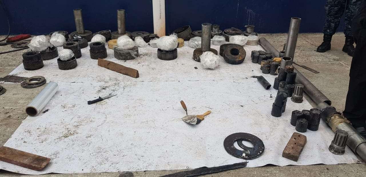 En esta piezas tenían la droga oculta, nueva modalidad del  narcotráfico.