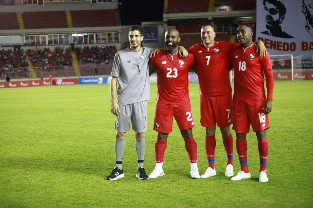 Penedo, Baloy, Blas y Tejada jugaron su último encuentro esta noche con la selección nacional. / Fotos: Anayansi Gamez