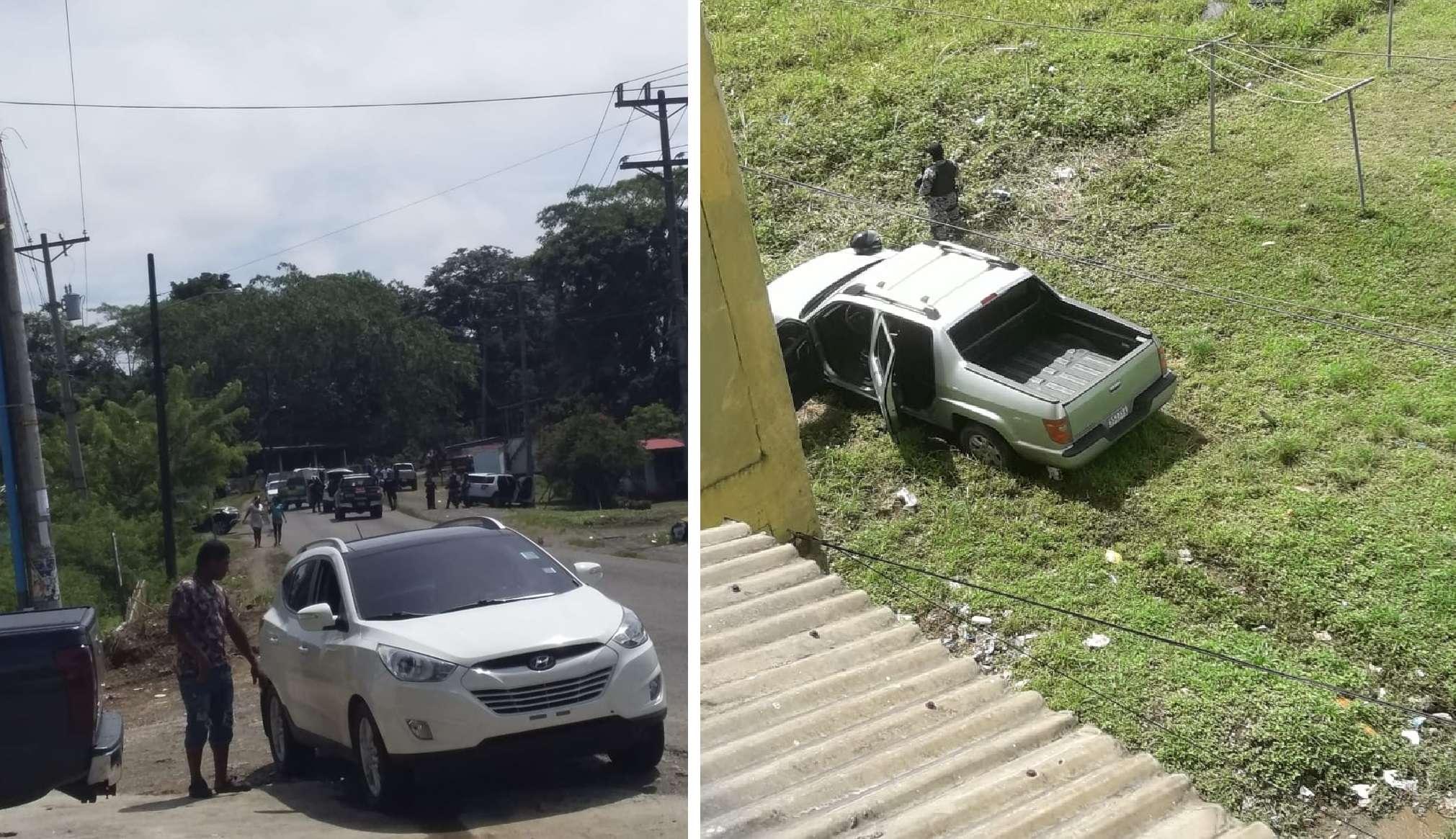 Vista general de la escena del suceso. Foto: @TraficoCPanama