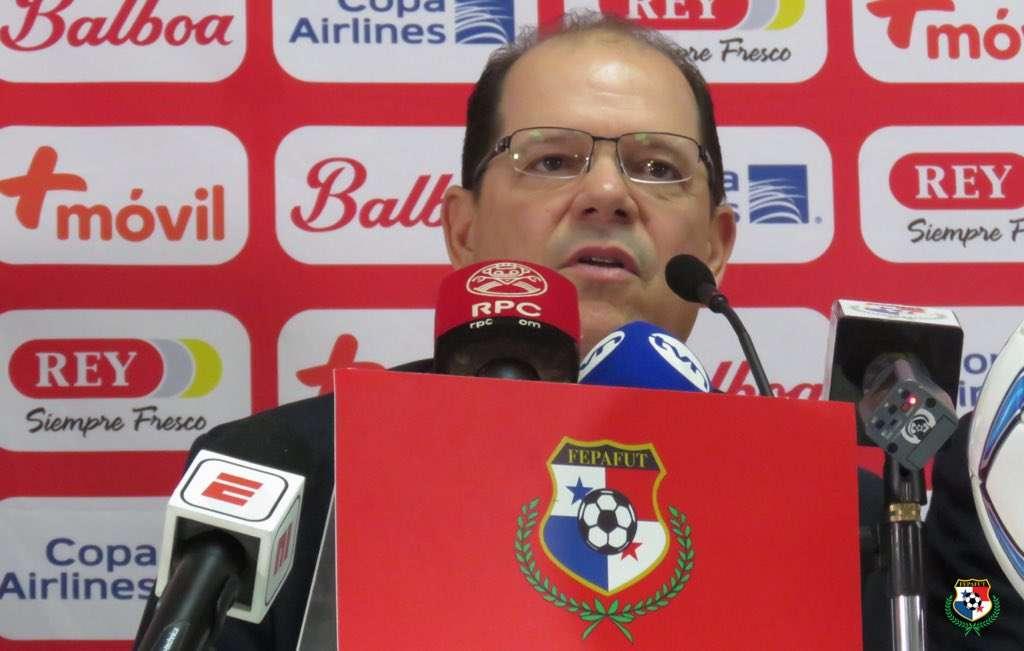 Manuel Arias, durante la rueda de prensa de hoy. /Fepafut