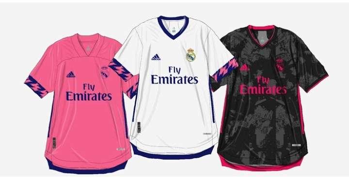 Los diseños que utilizaría el Real Madrid para la temporada 2020-2021.