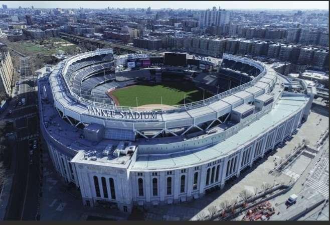 Vista panorámica del Yankee Stadium, en la ciudad de Nueva York.