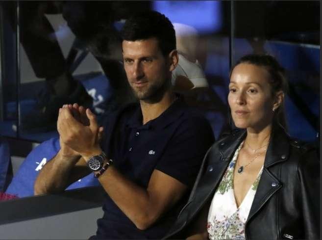 Novak Djokovic y su esposa.