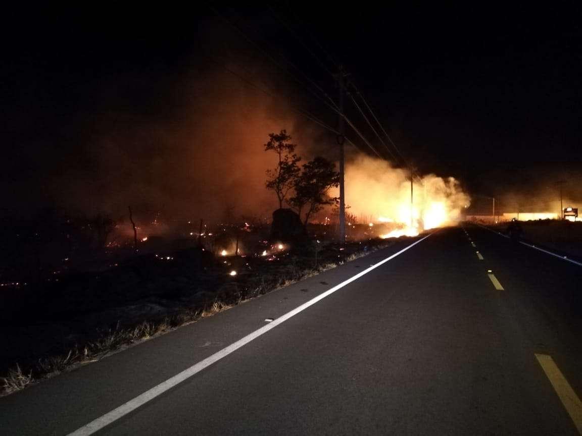 Vista general del incendio en Volcán. Foto: Mayra Madrid
