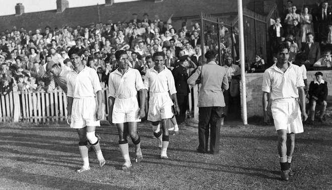 La selección de India jugó descalzo el un torneo olímpico.