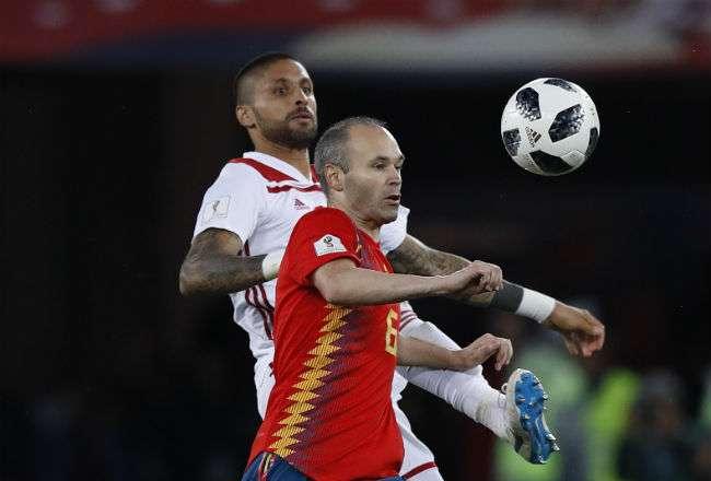 El jugador de la selección de España Andres Iniesta. Foto:AP