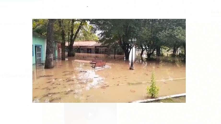 Algunos ríos se desbordaron ante las lluvias
