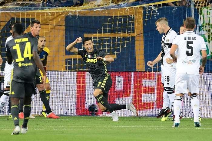 Cristiano Ronaldo no ha podido anotar con la Juventus. /EFE