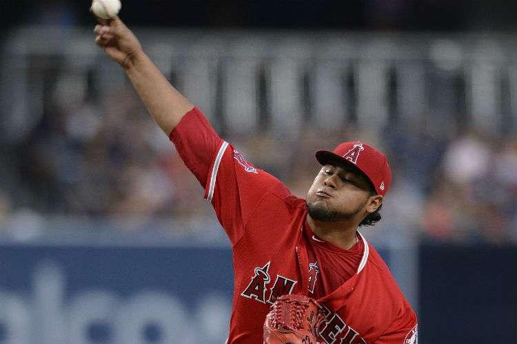 Jaime Barría tuvo una buena salida nuevamente con los Angelinos de Los Ángeles. Foto: AP