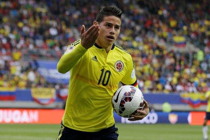 James Rodríguez, ídolo del fútbol colombiano/AP