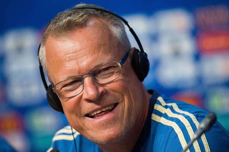 Janne Andersson durante la conferencia de prensa oficial en el estadio Samara Arena. Foto EFE
