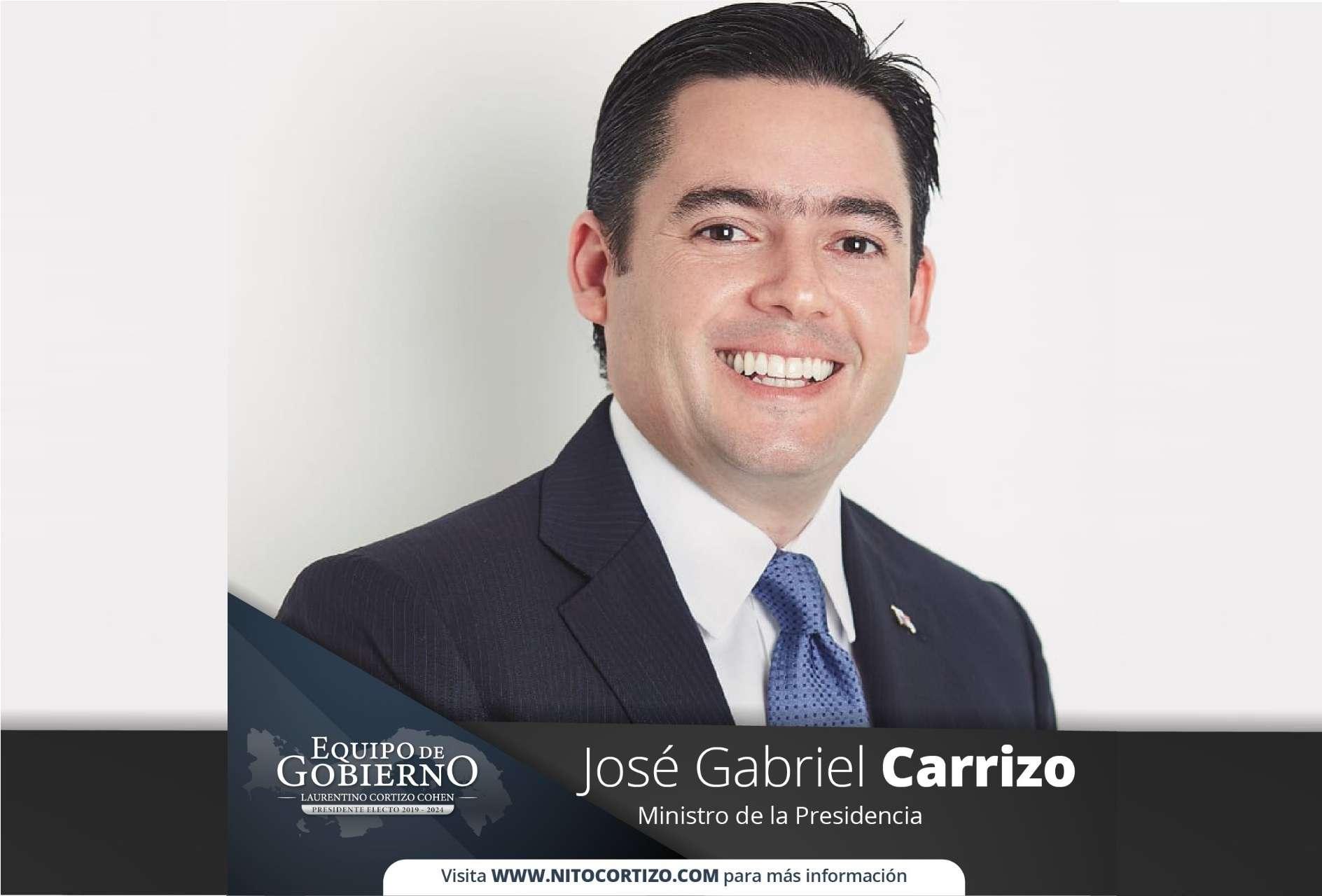 José Gabriel Carrizo, Ministro de la Presidencia.