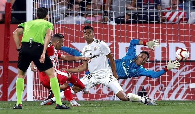 Keylor Navas defiende la puerta del Real Madrid desde hace cuatro temporadas. Foto: EFE