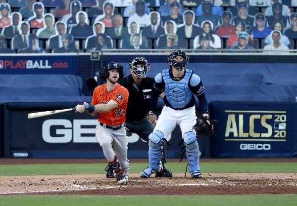 Kyle Tucker conectó un jonrón solitario para los Astros.