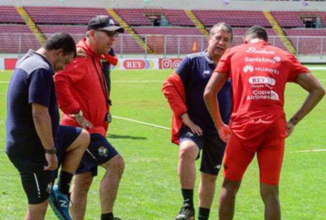 La selección de Panamá inicio hoy su preparación para los partidos amistosos.