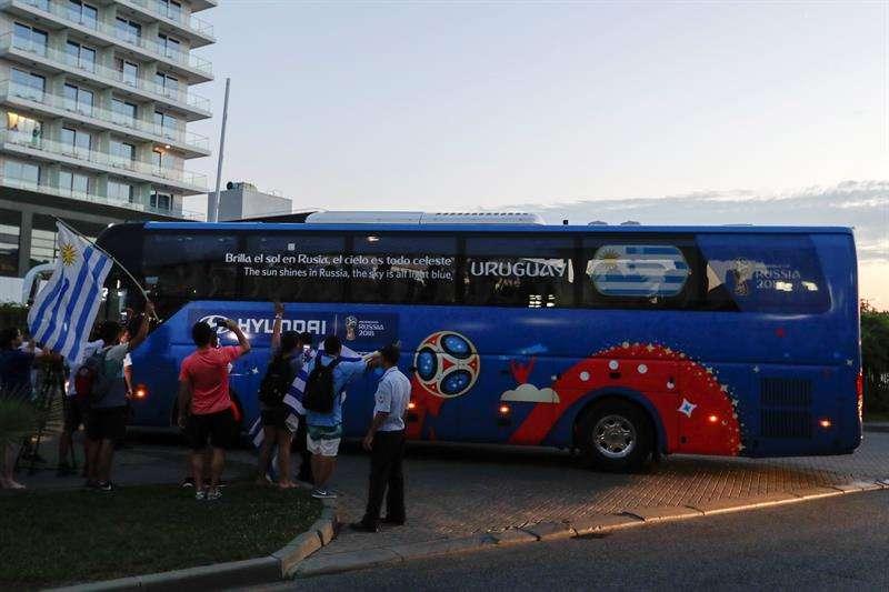 Uruguay llega a Sochi, escenario del duelo de octavos con Portugal. Foto EFE