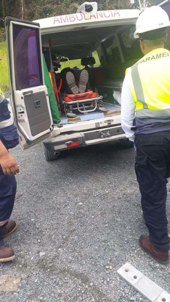 Accidente en Minera Panamá. Vía: @Frenadeso