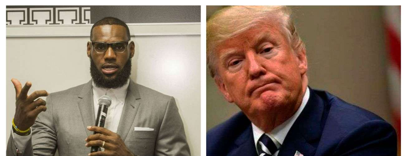 LeBron James (izq.) y Donald Trump.