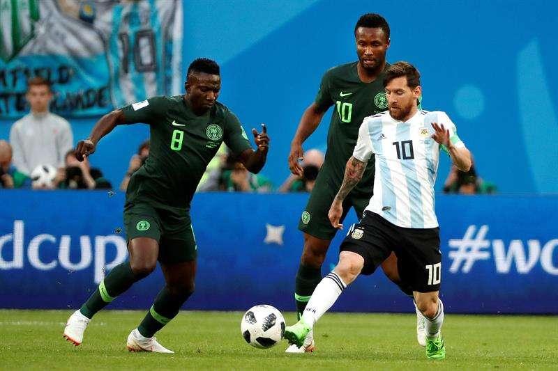 Messi completó el centenar de aciertos, contabilizando todos los partidos disputados desde el 14 de junio. Foto EFE