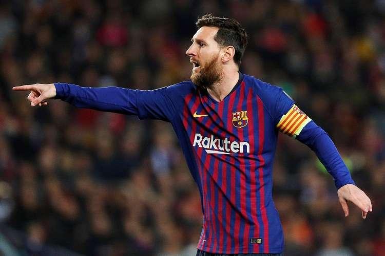 El delantero argentino del FC Barcelona, Leo Messi, durante el partido de la fase de grupos de la Liga de Campeones ante el  Tottenham. Foto: EFE