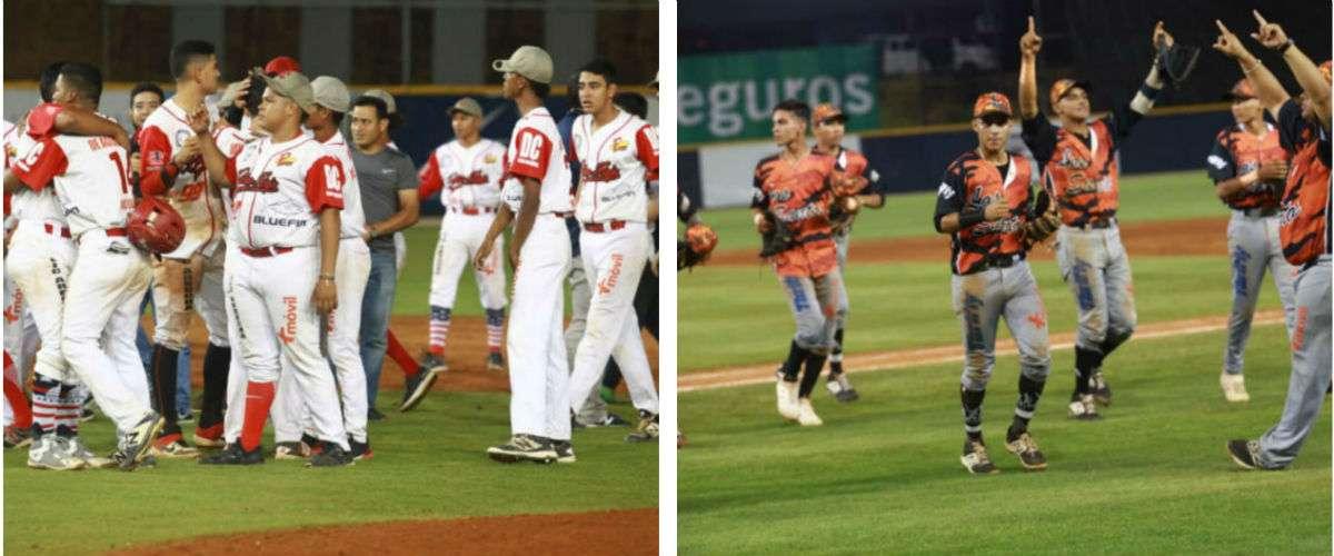 Las novenas de Coclé y Los Santos, finalistas del Campeonato Nacional de Béisbol Juvenil. Fotos: Anayansi Gamez
