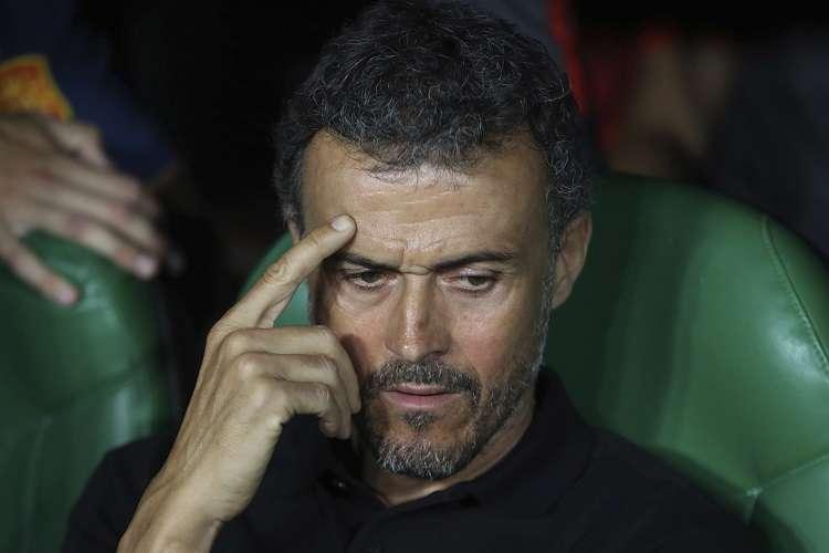 Luis Enrique, exentrenador y exjugador del Barcelona, fue nombrado técnico de España luego de la Copa del Mundo del año pasado.  Foto: AP