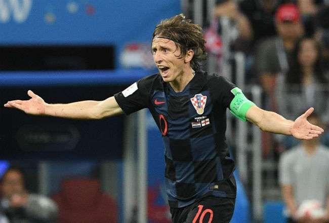 El jugador de Croacia Luka Modric. Foto: EFE