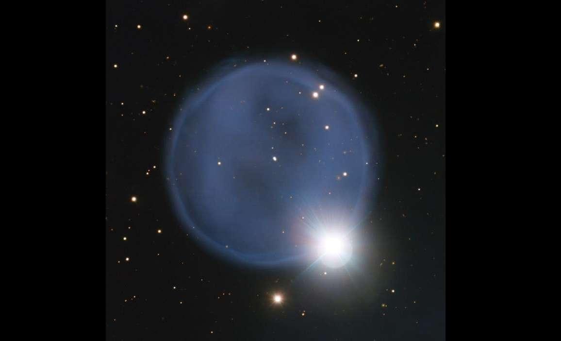 Equipo de astrónomos capta imagen de una llamativa nebulosa planetaria, utilizando el telescopio VLT (Very Large Telescope) en Chile, la PN A66 33, más conocida como Abell 33.  Foto: EFE / Fotografía facilitada por el Observatorio Europeo Austral (ESO)