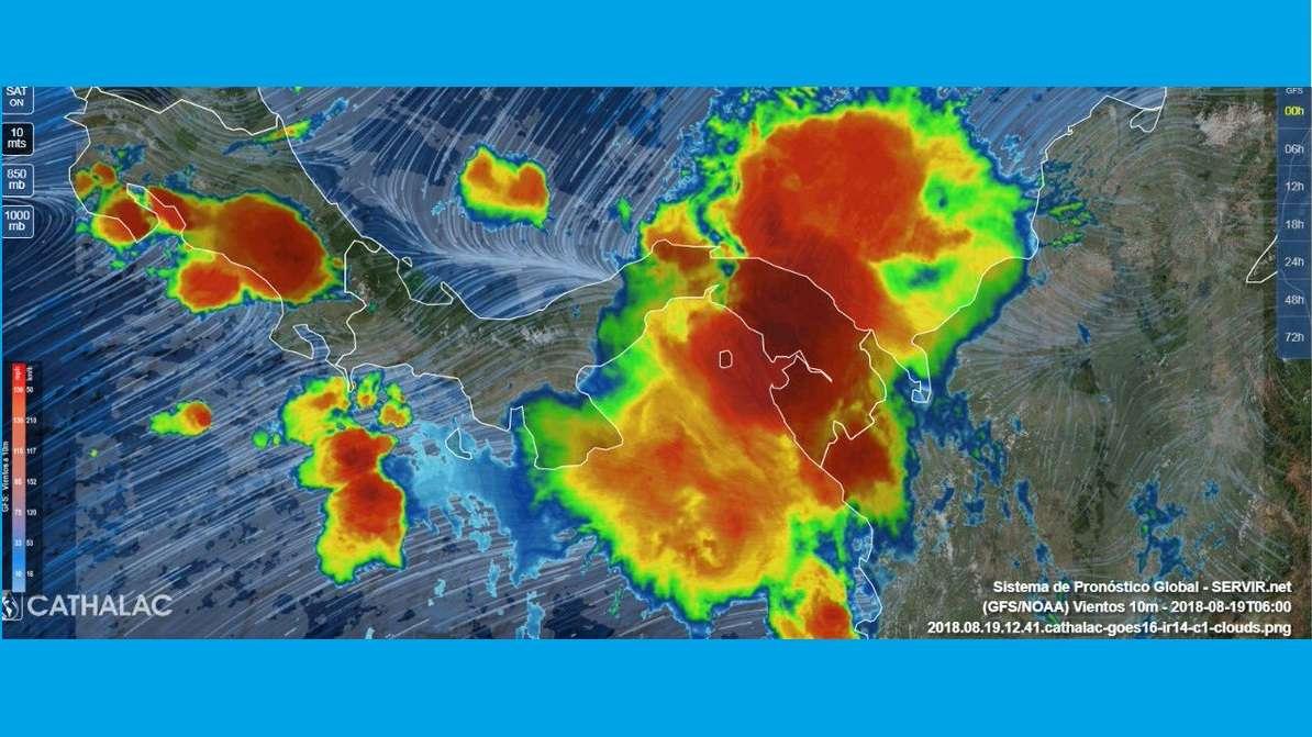 Imágenes de radar del sistema de mal tiempo en Panamá. Foto: @TraficoCPanama