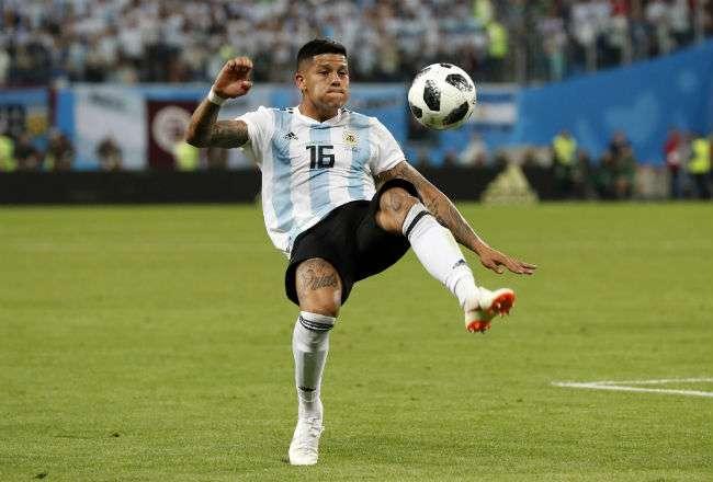 El jugador argentino Marcos Rojo. Foto:AP