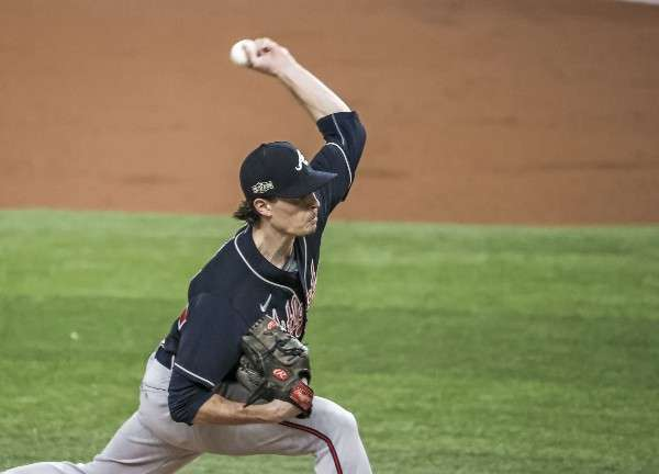 Max Fried dominó a la ofensiva de los Dodgers de Los Angeles. Foto: AP