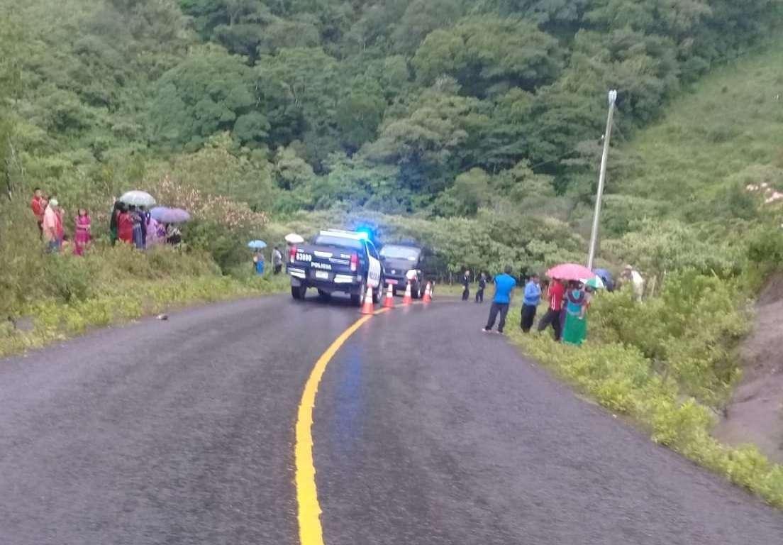 Vista general del área en donde ocurrió el suceso en la comarca. Foto: @TraficoCPanama