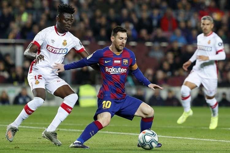 Messi se refirió al futuro del Barcelona en la Liga de Campeones. Foto: AP