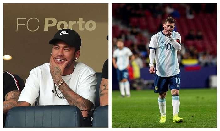 Neymar Jr. y Lionel Messi, las grandes figuras de Brasil y Argentina. /EFE