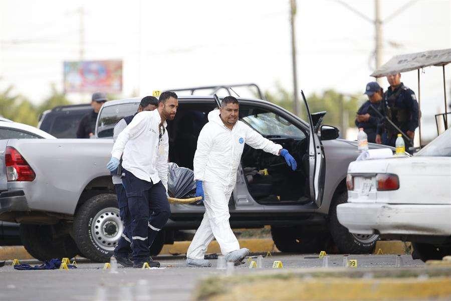Los hechos ocurrieron el martes por la noche al sur del municipio de Celaya, en donde apenas la semana pasada fueron detenidos diez presuntos integrantes del Cártel Jalisco Nueva Generación. EFE