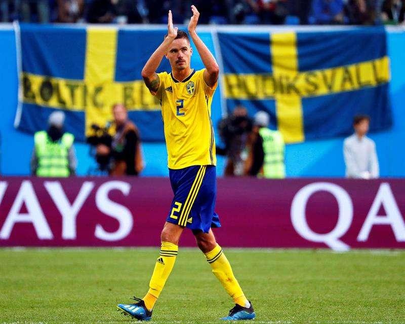 """Mikael Lustig:""""No me gusta perderme el próximo partido, pero estoy feliz y orgulloso de ser parte de esto"""". Foto EFE"""