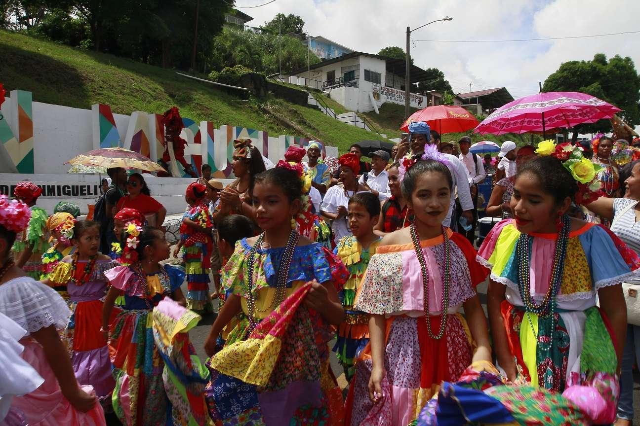 Conmemoración del Mes de la Etnia Negra en San Miguelito. Foto: Edwards Santos