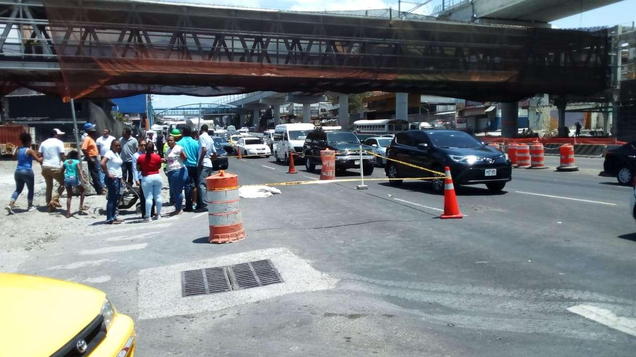 Vista general de la escena del accidente. Foto: Jean Díaz
