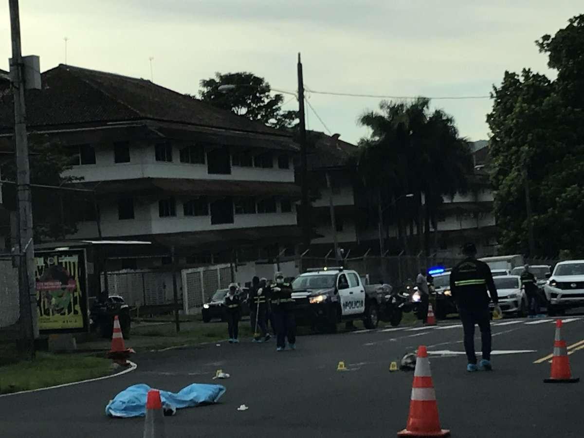 Vista general del área en donde ocurrió el atropello fatal. Foto: @TraficoCPanama