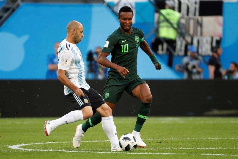 El padre de Obi Mikel, capitán de la selección de Nigeria, fue secuestrado horas antes del encuentro del Mundial contra Argentina. Foto EFE