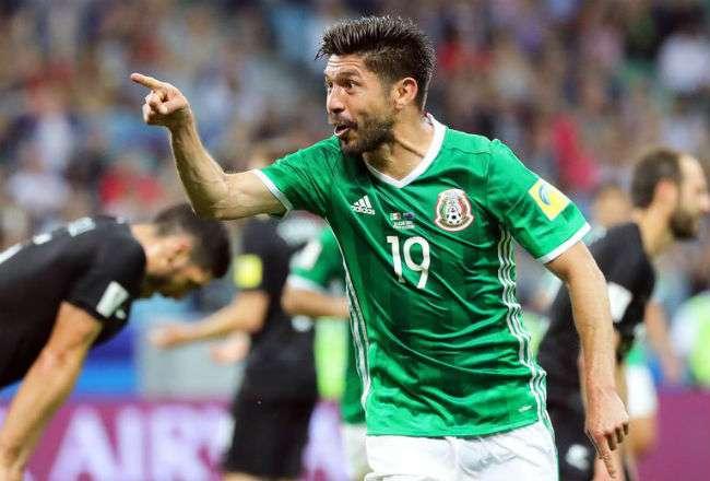 El jugador mexicano Oribe Peralta. Foto:EFE